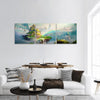 Art Of Fantasy Island Panoramic Canvas Wall Art 3 Piece / Small Tiaracle