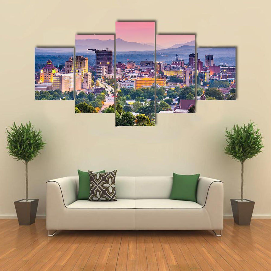 Asheville In North Carolina Multi Panel Canvas Wall Art 4 Pieces / Medium / Canvas Tiaracle