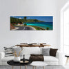 Asphalt Road Along Tropical Coastline Panoramic Canvas Wall Art Tiaracle