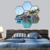 Assos Is Small Town On Island Of Kefalonia Hexagonal Canvas Wall Art 7 Hexa / Small / Gallery Wrap Tiaracle
