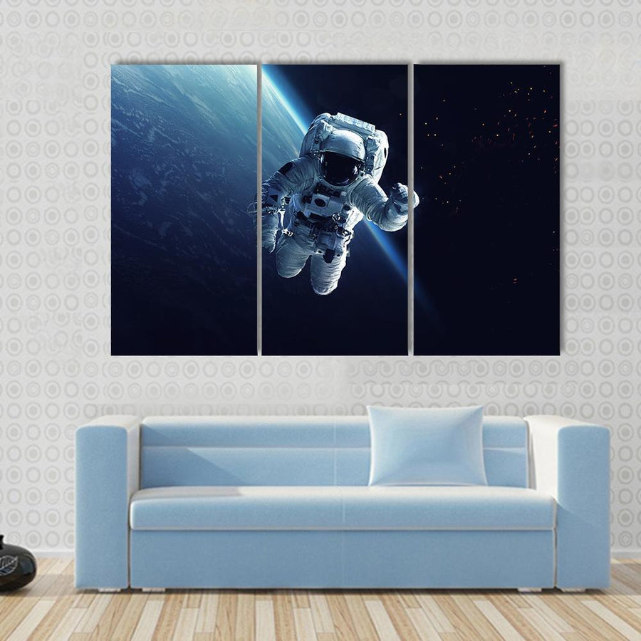 Astronaut In Space Canvas Panel Painting Tiaracle