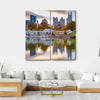 Atlanta Autumn Skyline Canvas Wall Art-4 Square-Small-Gallery Wrap-Tiaracle