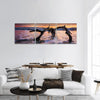 Atlantic Ocean At Sunrise In Georgia Panoramic Canvas Wall Art 3 Piece / Small Tiaracle
