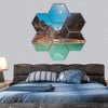 Attabad Lake in Northern Pakistan Hexagonal Canvas Wall Art 7 Hexa / Small / Gallery Wrap Tiaracle