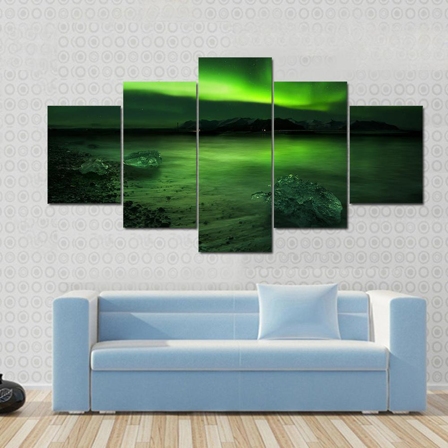 Aurora Northern Lights Canvas Panel Painting Tiaracle