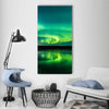 Aurora Show at Finnish Lake Vertical Canvas Wall Art-1 Vertical-Small-Gallery Wrap-Tiaracle