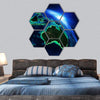 Australia And Indonesia Map Hexagonal Canvas Wall Art 7 Hexa / Small / Gallery Wrap Tiaracle