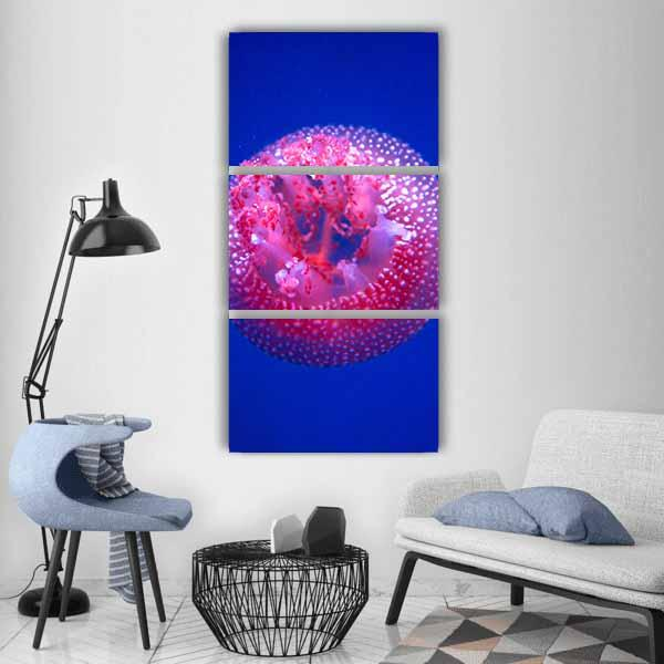 Australian Spotted Jellyfish Vertical Canvas Wall Art 1 Vertical / Small / Gallery Wrap Tiaracle