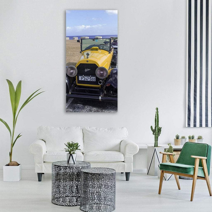 Auto Classic In Havana Cuba Vertical Canvas Wall Art 3 Vertical / Small / Gallery Wrap Tiaracle
