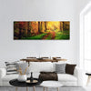 Autumn Forest Panoramic Canvas Wall Art 1 Piece / Small Tiaracle