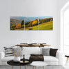 Autumn In Carpathian Mountains Panoramic Canvas Wall Art 3 Piece / Small Tiaracle