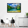 Avalanche Lake In Montana Multi Panel Canvas Wall Art-Tiaracle