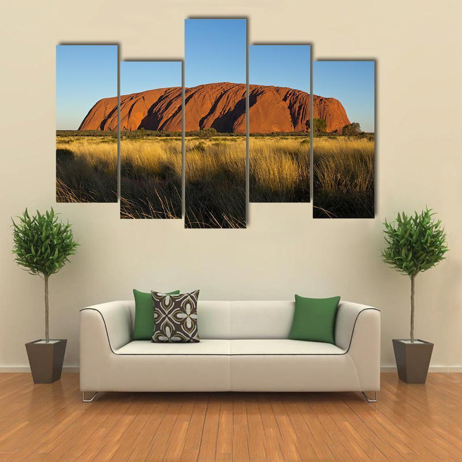 Ayers Rock In The Evening Light Multi Panel Canvas Wall Art 5 Pieces(B) / Medium / Canvas Tiaracle