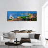 Baku City On The Caspian Sea Panoramic Canvas Wall Art 3 Piece / Small Tiaracle