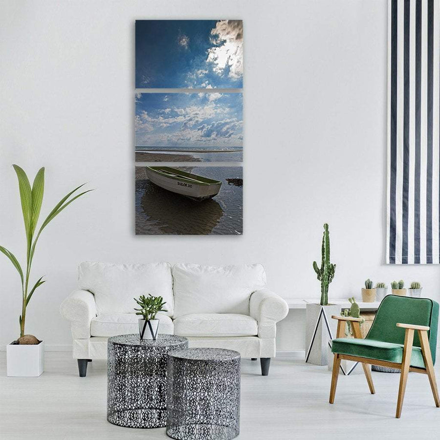 Baltic Sea Coast In Denmark Vertical Canvas Wall Art 1 Vertical / Small / Gallery Wrap Tiaracle