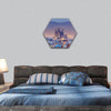 Barcelona At Night Hexagonal Canvas Wall Art-1 Hexa-Small-Gallery Wrap-Tiaracle