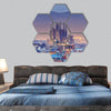 Barcelona At Night Hexagonal Canvas Wall Art-7 Hexa-Small-Gallery Wrap-Tiaracle