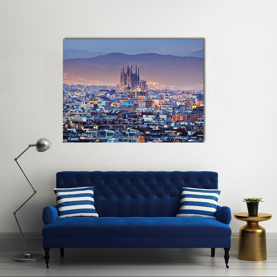 City View Of Barcelona Canvas Panel Painting Tiaracle