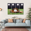 Baseball Equipment Multi Panel Canvas Wall Art-4 Horizontal-Small-Gallery Wrap-Tiaracle
