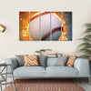 Baseball On A Fire Canvas Wall Art-5 Horizontal-Small-Gallery Wrap-Tiaracle