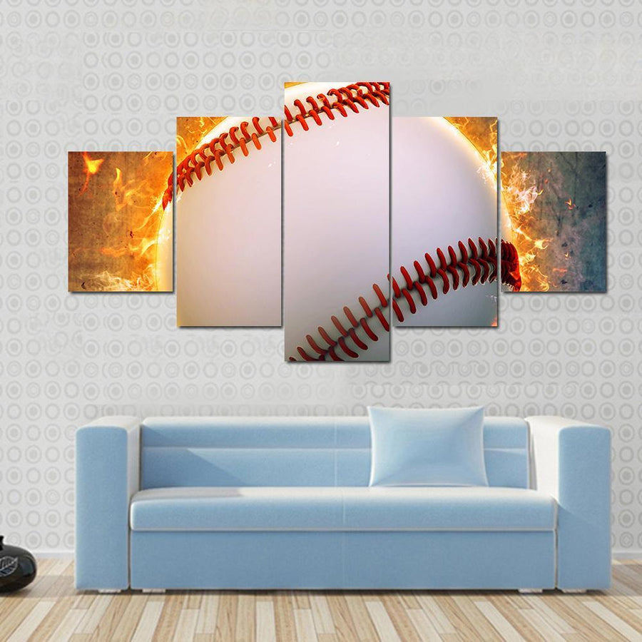Abstract Baseball Sport Invitation Poster Canvas Panel Painting Tiaracle