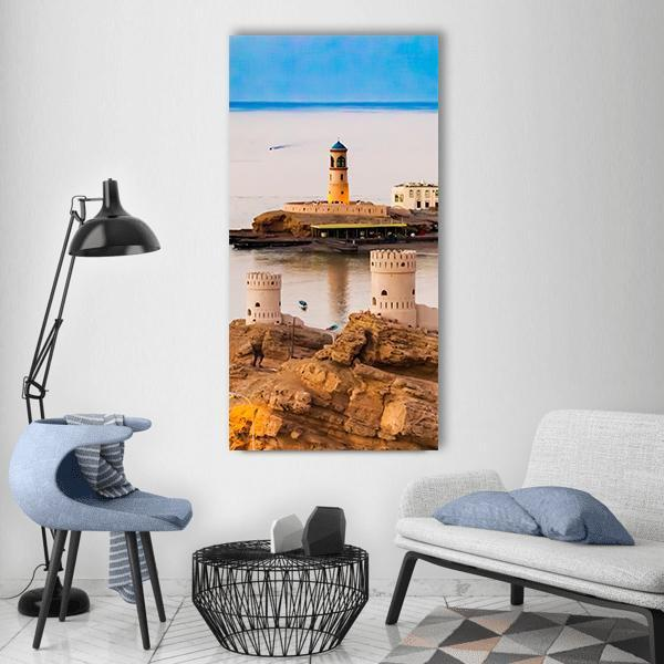Bay in Oman Vertical Canvas Wall Art 3 Vertical / Small / Gallery Wrap Tiaracle