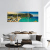 Bay On Ischia Island In Italy Panoramic Canvas Wall Art 3 Piece / Small Tiaracle