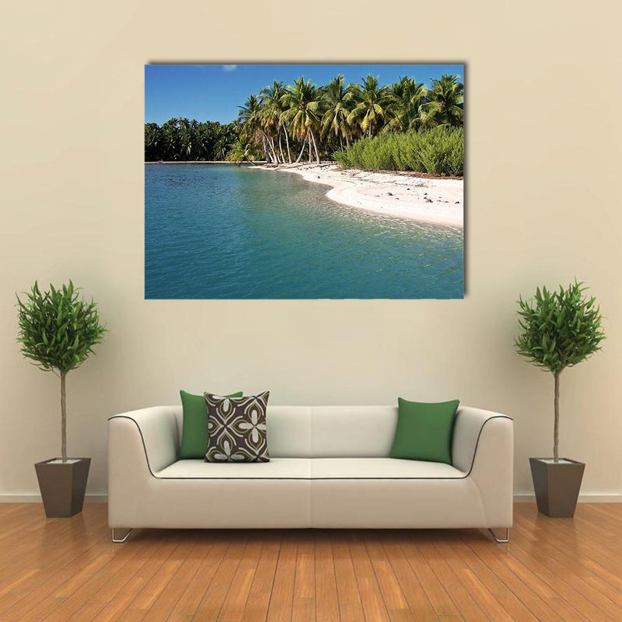 Beach In Polynesia Multi Panel Canvas Wall Art-5 Horizontal-Small-Gallery Wrap-Tiaracle