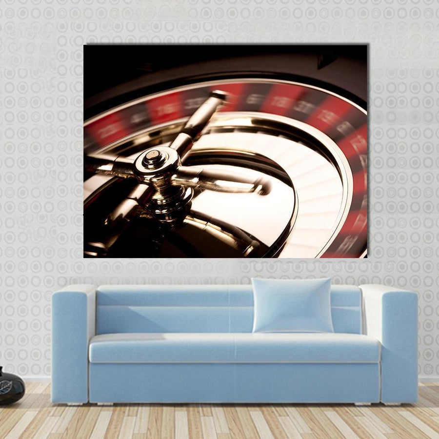 Beautiful Casino Game Multi Panel Canvas Wall Art 5 Horizontal / Small / Gallery Wrap Tiaracle