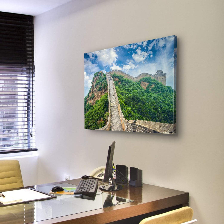 Great Wall Of China Under Clouds Canvas Panel Painting Tiaracle