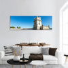 Belem Tower In Lisbon Portugal Panoramic Canvas Wall Art 1 Piece / Small Tiaracle