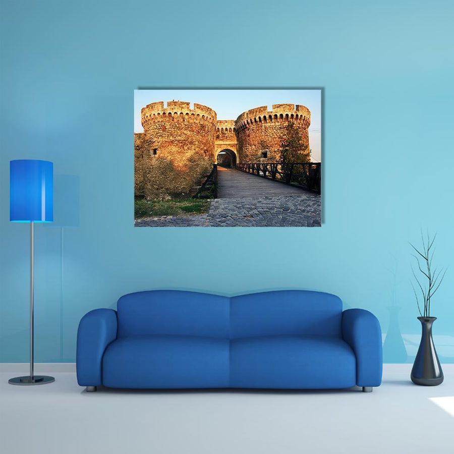 Belgrade Fortress Gate Multi Panel Canvas Wall Art 5 Horizontal / Small / Gallery Wrap Tiaracle