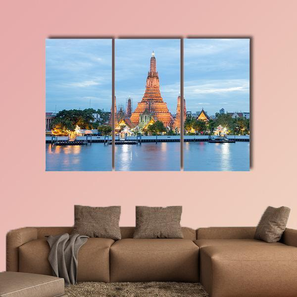 Big Asia City By Night Multi Panel Canvas Wall Art 4 Pieces / Medium / Canvas Tiaracle