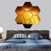 Big Yellow Light Thunderbolts Hexagonal Canvas Wall Art 7 Hexa / Small / Gallery Wrap Tiaracle