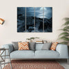 Birds Flying Over Ocean Multi Panel Canvas Wall Art 4 Horizontal / Small / Gallery Wrap Tiaracle