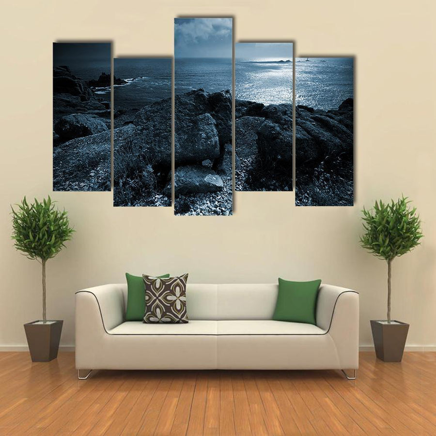 Flock Of Birds Flying Over The Ocean Multi Panel Canvas Wall Art 3 Pieces / Medium / Canvas Tiaracle