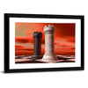 Black And White Castle Chess Piece Multi Panel Canvas Wall Art-Tiaracle
