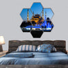 Blue Mosque In Istanbul With Dancing Fountain Hexagonal Canvas Wall Art 7 Hexa / Small / Gallery Wrap Tiaracle