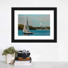 Blue Sailboat In Travel Multi Panel Canvas Wall Art-Tiaracle