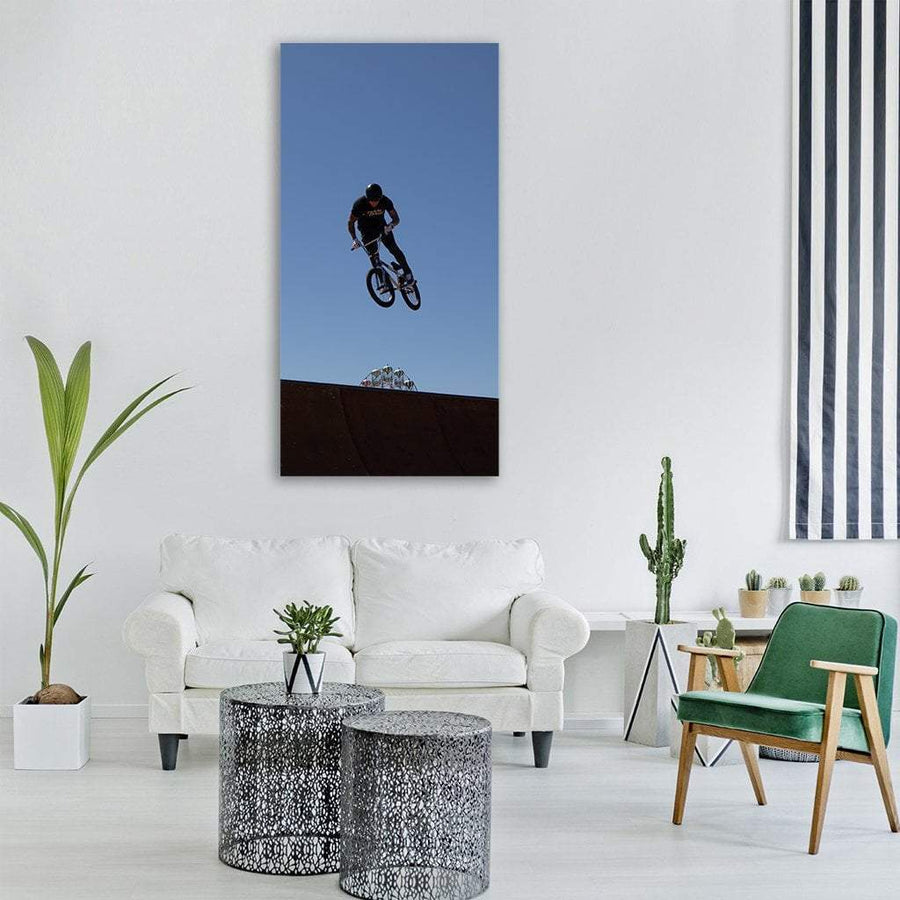 Bmx Cycling Sports Vertical Canvas Wall Art 3 Vertical / Small / Gallery Wrap Tiaracle