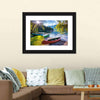 Bohinj Lake With Boats Multi Panel Canvas Wall Art-Tiaracle