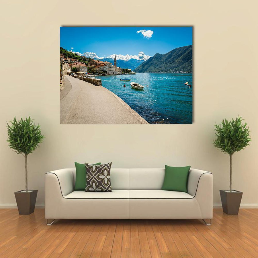 Boka Kotor Bay In Montenegro Canvas Wall Art