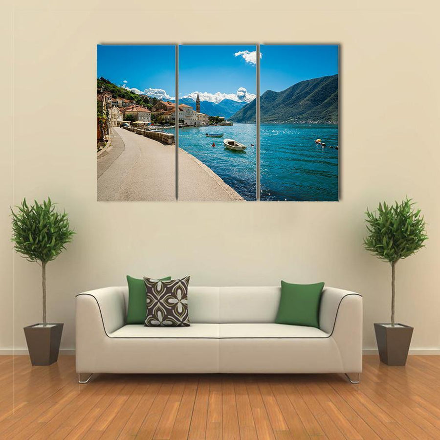 Boka Kotor Bay In Montenegro Canvas Panel Painting Tiaracle