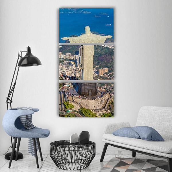 Botafogo Bay In Brazil Vertical Canvas Wall Art 1 Vertical / Small / Gallery Wrap Tiaracle