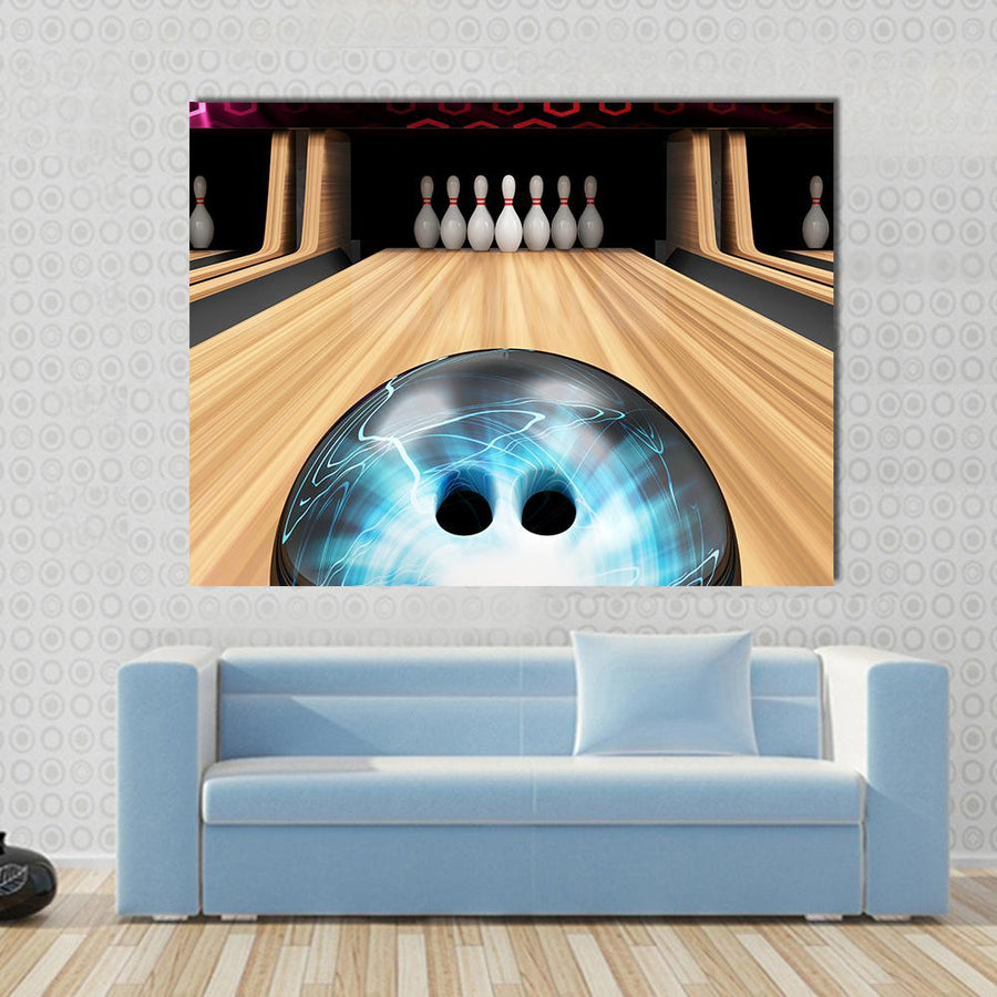 Bowling Ball Ready To Hit Multi Panel Canvas Wall Art-4 Square-Small-Gallery Wrap-Tiaracle