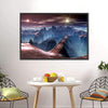 Bridge Over Alien Planet Multi Panel Canvas Wall Art-Tiaracle
