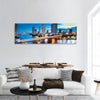 Bridge Over Phraya River In Bangkok Panoramic Canvas Wall Art 1 Piece / Small Tiaracle