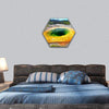 Bright Colors Of The Morning Glory Pool Hexagonal Canvas Wall Art 1 Hexa / Small / Gallery Wrap Tiaracle