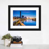 Brisbane Skyline At Sunrise Multi Panel Canvas Wall Art-Tiaracle