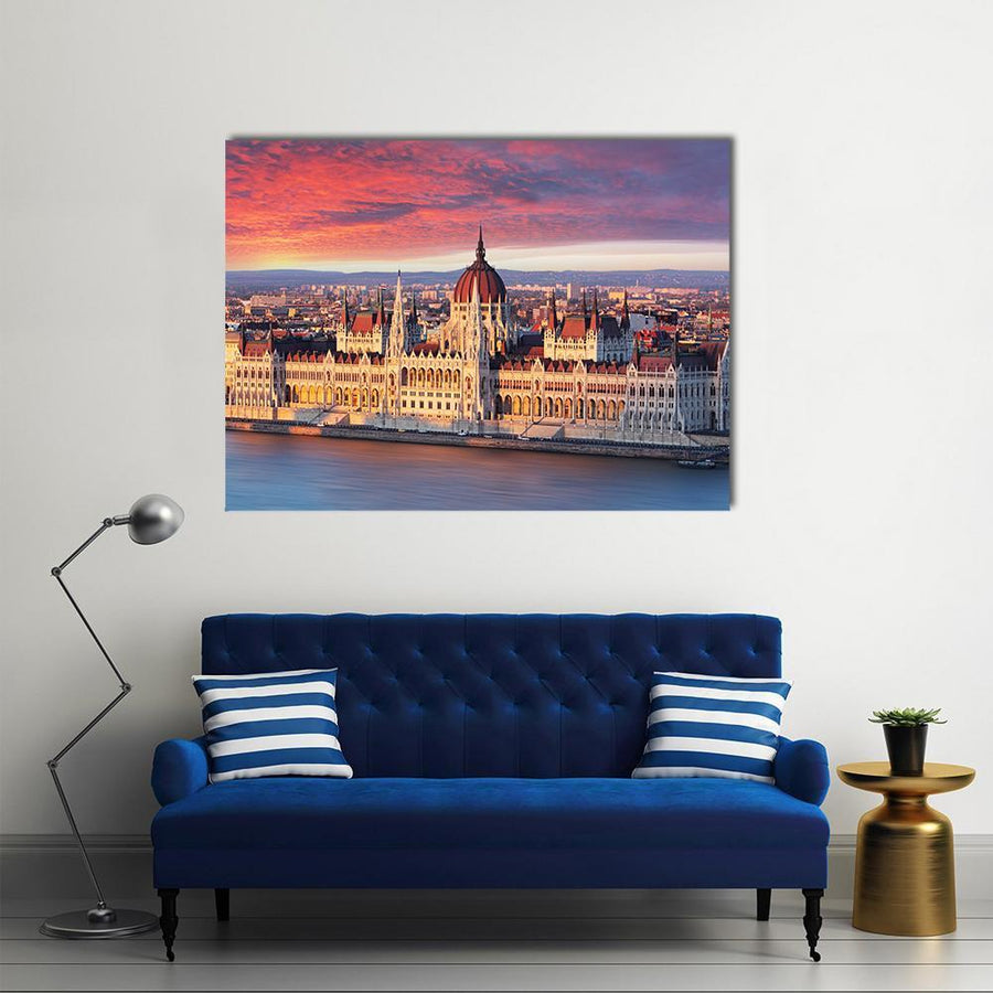 Budapest Parliament, Hungary-4 Horizontal-Small-Gallery Wrap-Tiaracle